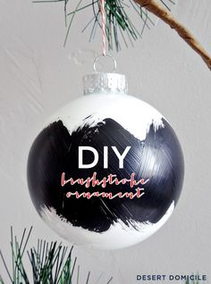 DIY Brushstroke Orna