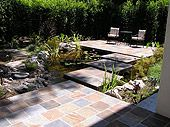 brick paver, paver patio, step stone, deck idea, slate tile, garden inspir, stone path