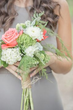 Sweet and romantic bridesmaid bouquet: http://www.stylemepretty.com/florida-weddings/miami-fl/2014/09/29/romantic-miami-wedding-at-red-fish-grill/ | Photography: 13:13 Photography - http://1313photography.com/