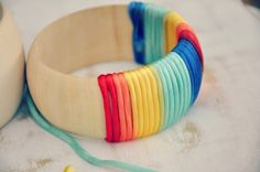 Rainbow-Wrapped Bangle