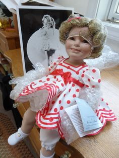 MY Shirley Temple Susan Wakeen Baby Doll! She is definitly ONE OF MY VERY FAVORITES!!! I was estatic when I found out about the Wakeen Shirley doll. For she was authenticated and authorized by Shirley Temple Black herself personally. She is just wonderful and Beautiful.
