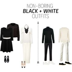 Non-Boring Black & White Outfits by hannahbaker86 on Polyvore