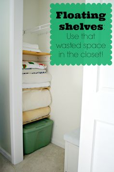 Using the wasted space in a bedroom closet!