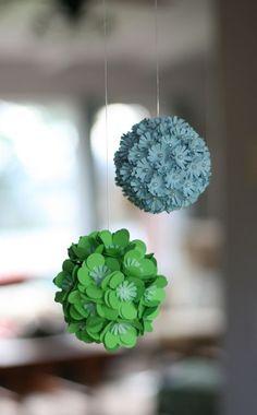 I like these!  Paper flower pom poms