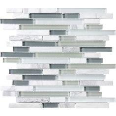 Anatolia - Venatino Glass/Stone Strip Mosaics - 20-596 - Home Depot Canada