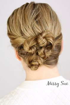 Twisted Updo for Wet Hair