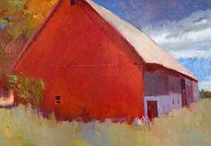 "RODGER BECHTOLD, RED, WHITE & BLUE, Oil on Linen, 46 x 66"""