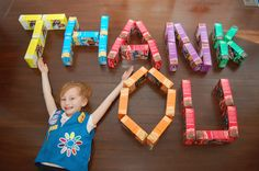 Girl Scout Cookie thank you picture!  Great idea!