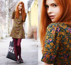 VALBORGSMÄSSOAFTON (by Ebba Zingmark) http://lookbook.nu/look/3414907-VALBORGSM-SSOAFTON the weakness for redheads continue..theres something magical about them and fashion..like the perfect marriage between quirky and beautiful :) next life, reincarnated redhead, or asian...be nice whatever's up there :P but being indian's still pretty bloody awesome ^_^