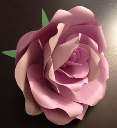 Giant Rose from Cricut Giant Flower Cartridge.  Love making these!