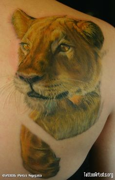 a tribute to Petri Syrj   one of the best animal potrait tattoo artists