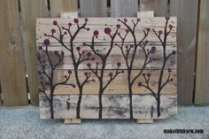 Repurpose: Pallet Wall Art - makethinksew.com