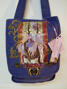 Big Sale 50 Off Fantasy Lovers Canvas Handbag Blue by paulagsell, $25.00