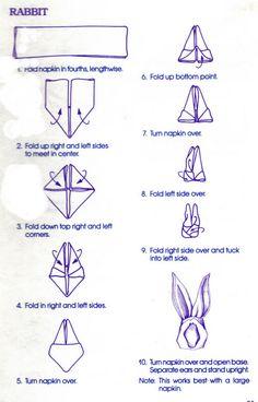 How to - Napkin Folding