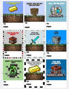 Minecraft Printable Valentine's Day Cards $2.75