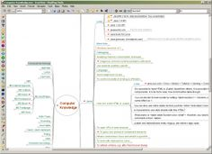 FreeMind - free mind mapping software.  Plus links to alternatives.  Note, not yet checked the software out, this is just a reminder