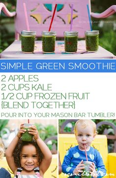 green smoothie recipe that kids LOVE!