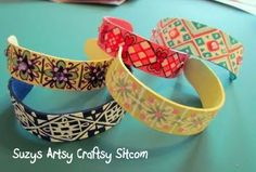 Popsicle stick bracelets...fun activity for kids