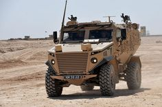 A Foxhound Light Protected Patrol Vehicle on operations in Afghanistan.