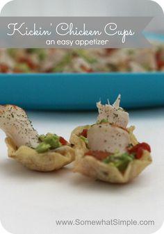 Kickin' Chicken Cups- An Easy Appetizer
