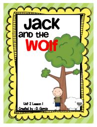 Journeys First Grade Jack and the Wolf Unit 2 Lesson 1 from TwirlyBirdTeaching on TeachersNotebook.com -  (42 pages)
