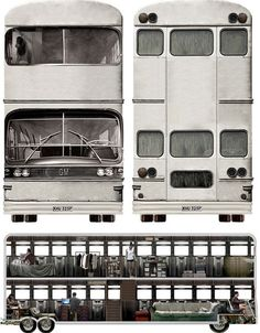 Bus Home or Mobile Converted Double-Decker Community?