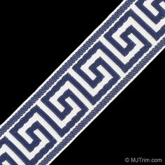 60MM GREEK KEY JACQUARD