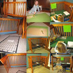 Art desk from old crib
