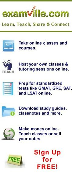 Examville - the Education Marketplace (for students, teachers and parents)