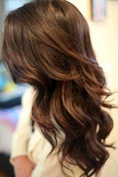 Simple brunette layers & curls .