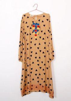 Dress Cognac triangles