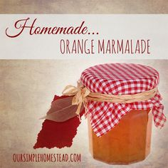 Homemade Orange Marm