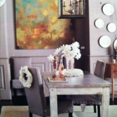 Love these colors, LOVE the painting - Ballarddesigns.com