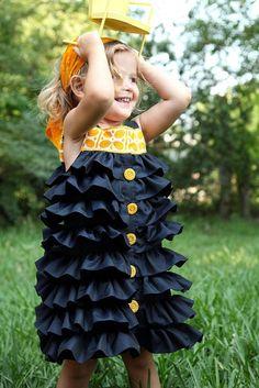 ruffled dress tutorial