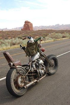 The road and the bike...