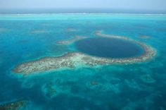 10 awe-inspiring places around the world - The Great Blue Hole Ambergris Caye, Belize