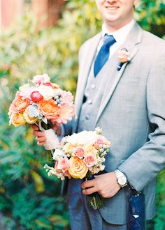 Navy and Orange wedding by Mandy Mayberry