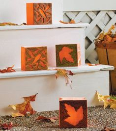 Autumn Leaves Luminaries | Easy Fall Projects from Joann.com