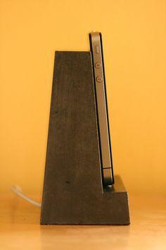 Concrete . iphone . ipod . Dock by atstuart $44 #iPhone Dock #atstuart #Aidan_Conway_Stuart