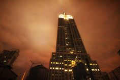 Empire States Building at night from my hotel, by @paulogodoy62