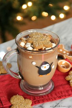 Gingerbread Hot Chocolate - Eat. Drink. Love.