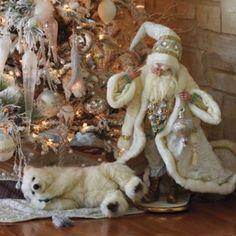 Mark Roberts Santa Figure with Polar Bear