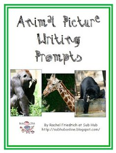 Animal Picture Writing Prompts Freebie