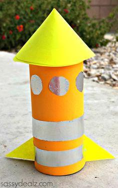 Rocket Toilet Paper Roll Craft For Kids