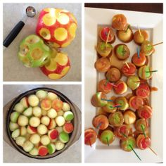 Mini caramel apple bites!
