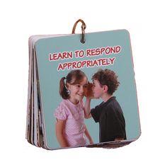 PRAGMATICS social skill, photographs, autism, respond appropri, 1673, children, learning, cards, flash card