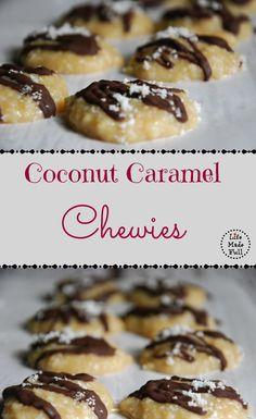 Coconut Caramel Chewies (A no-bake dessert!) - Life Made Full