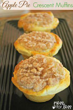Apple Pie Muffins Using Crescent Rolls
