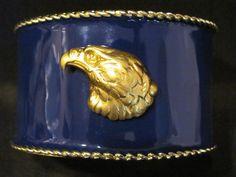 GSU Eagle Gameday Cuff Bracelets  Eagle on Blue by GamedaybySJ, $40.00 GSU Georgia southern university jewelry USA america