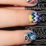 Uñas decorada ondas